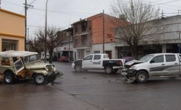 Una joven herida tras un accidente en el centro