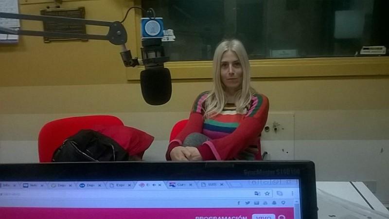 Estatuismo:Maria Ines Banegas de visita en Radio Olavarría
