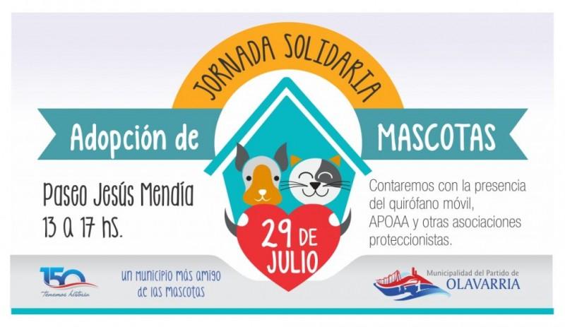 Jornada solidaria de adopción de mascotas