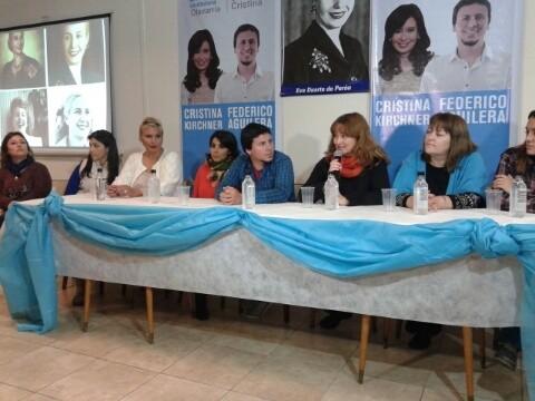 Conferencia de prensa y acto por Eva Perón