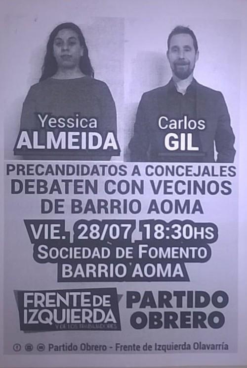 Almeida y Gil en el Barrio AOMA
