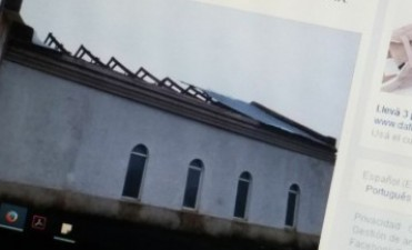Preparan la capilla de Colonia Nievas para la reparación del techo