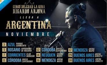 Ricardo Arjona llega a Azul en noviembre