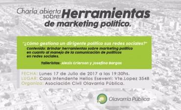 Olavarría Pública realizará este lunes una charla sobre Redes y Marketing político