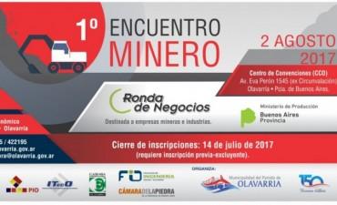 Olavarría sede del primer Encuentro Minero