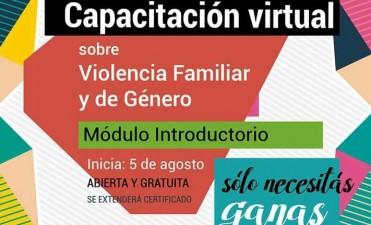 Capacitación en prevención de la Violencia Familiar y de Género