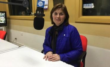 Andrea Rivero pasó por los estudios de Radio Olavarría