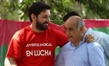 El candidato a Diputado Nacional y presidente de la JR provincial, Pablo Juliano, en Olavarría