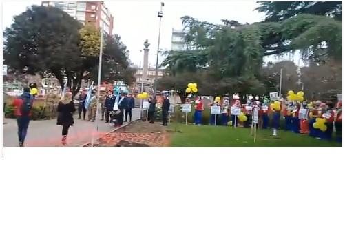 Con protestas, comenzaron los actos por la declaración de la Independencia