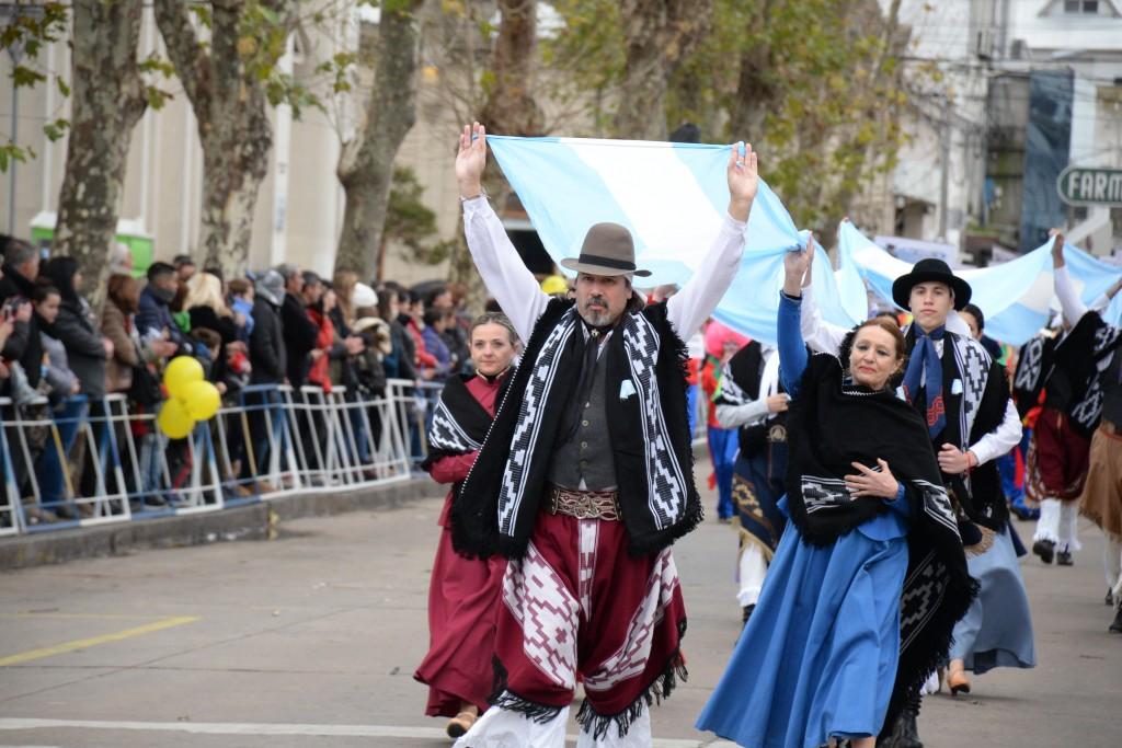 Imágenes del desfile patrio