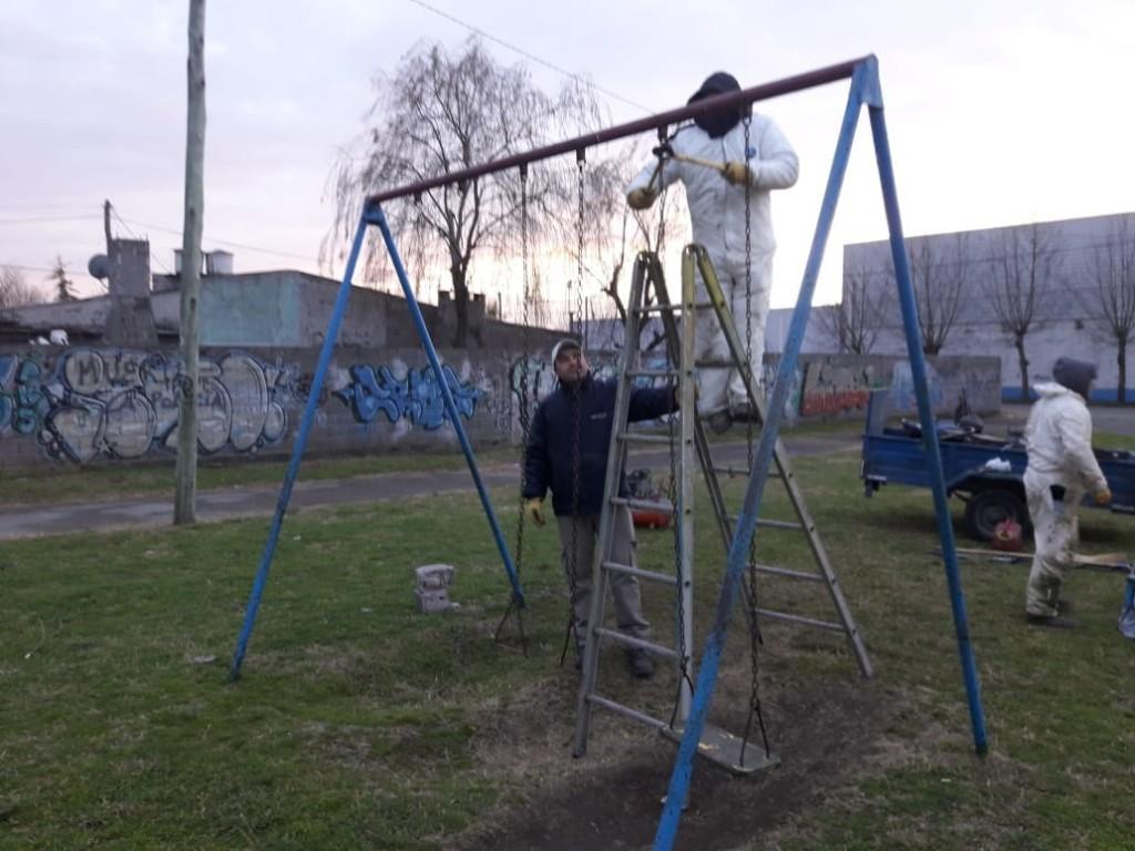 El Municipio continúa con la puesta en valor de espacios públicos