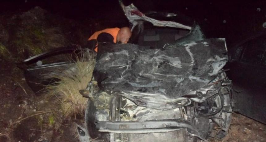 Accidente en Ruta 51: un auto embistió una vaca