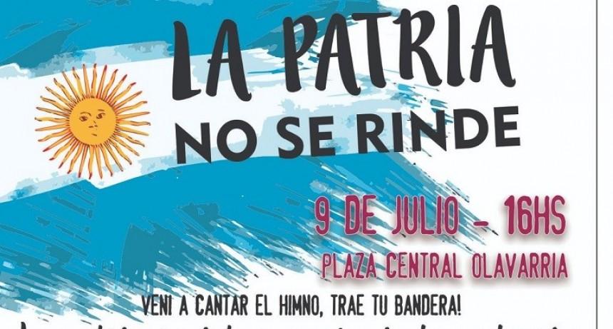 Movilización en Olavarría con la consigna 'La Patria no se rinde'