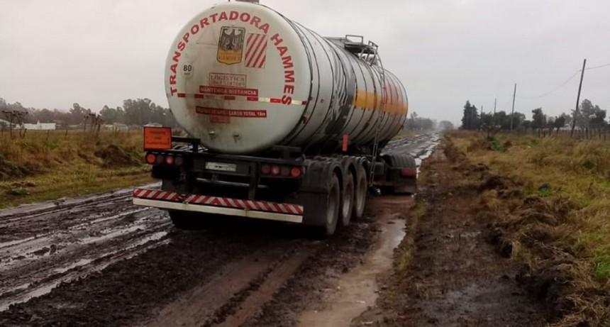 Infracción por circular en caminos rurales en días de lluvia