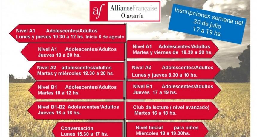 Segundo cuatrimestre de cursos y talleres en la Alianza Francesa Olavarría