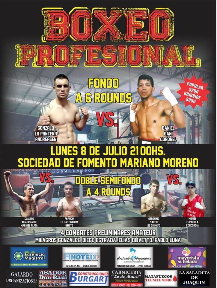 Festival de Boxeo en Mariano Moreno