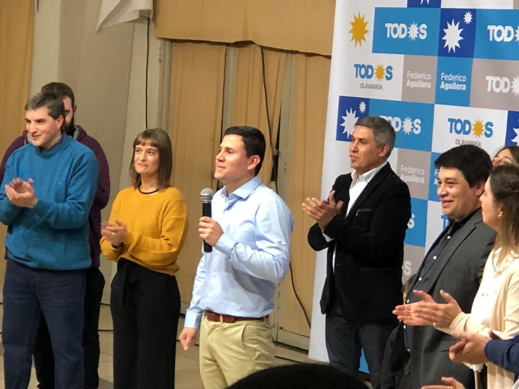 Frente de Todos: Aguilera encabezó el acto y presentó propuestas