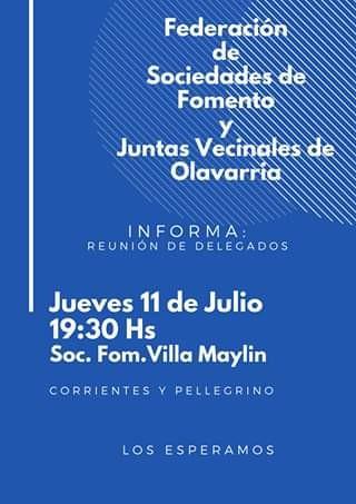 Reunión mensual de la Federación de Sociedades de Fomento