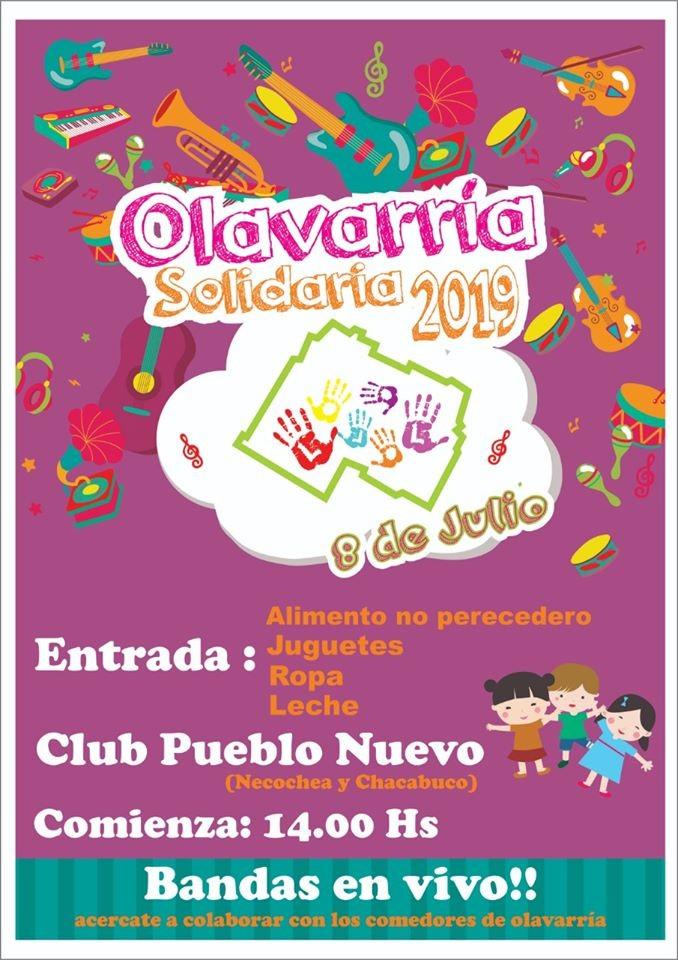 Olavarría Solidaria 2019: bandas y espectáculos a beneficio