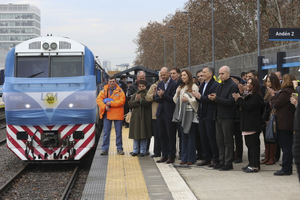 Vidal acompañó a Macri y Larreta en la inauguración del viaducto San Martín