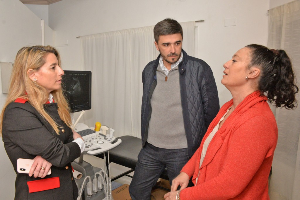 El Intendente visitó el área de Ecografía del Hospital Municipal