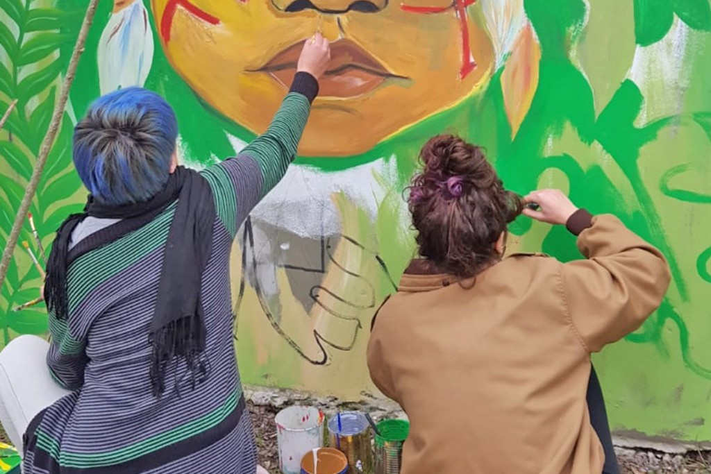 Mural sobre conservación en La Máxima