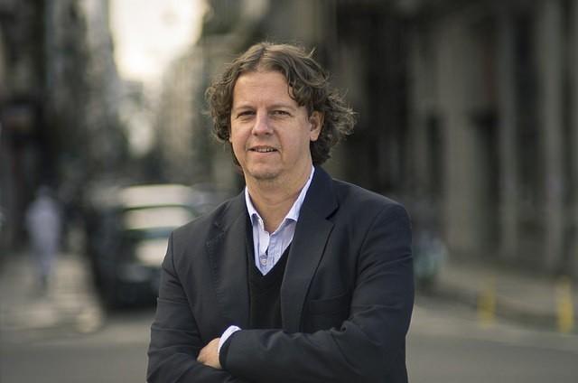 Christian Castillo, precandidato a gobernador, en Olavarría