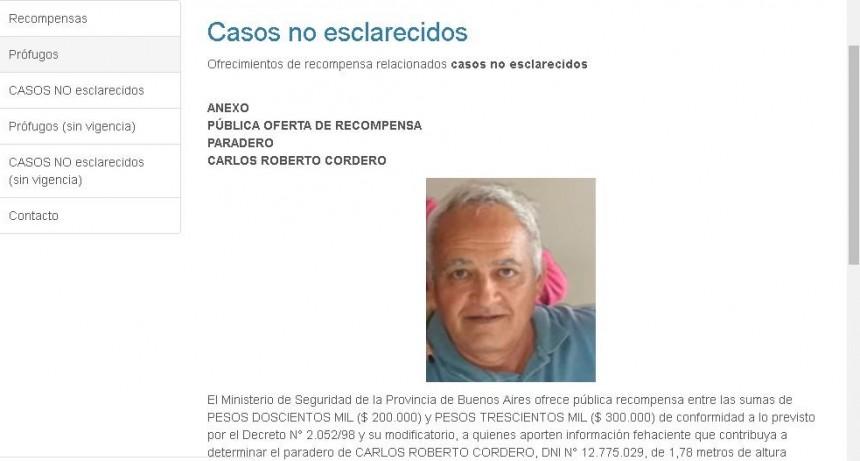 Oficializan recompensa para quien aporte datos por Carlos Cordero