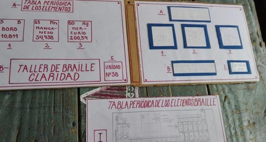 Internos de la Unidad 38 confeccionaron tabla periódica en Braille