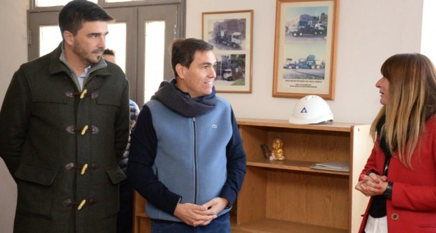 Galli y Tizado visitaron Talleres Metalúrgicos Mazzeo
