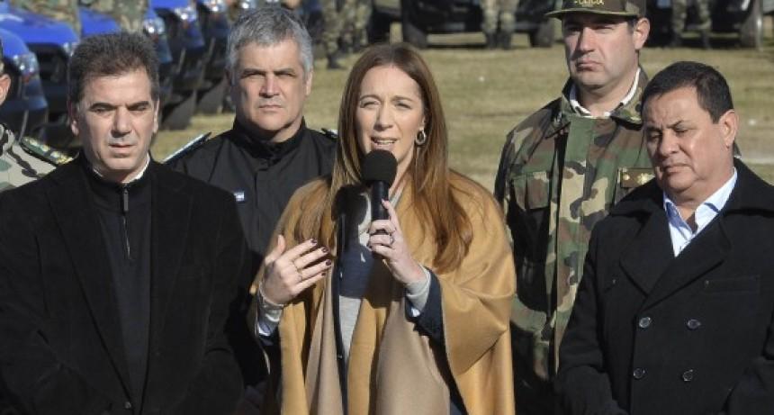 La gobernadora entregó móviles a los Comandos de Patrullas Rurales