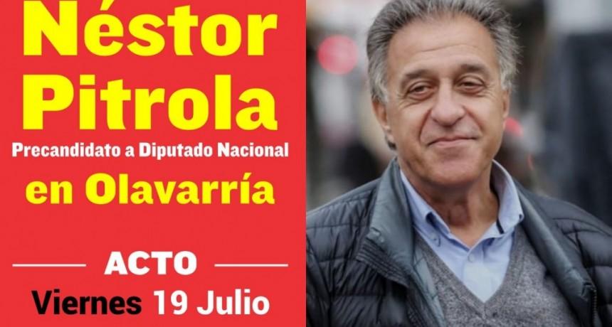 Julio Néstor Pitrola estará en Olavarría
