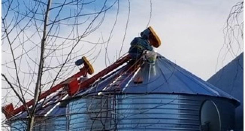 Se reinician las obras de los silos en el Barrio Parque Paulownia