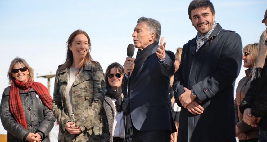 La Gobernadora y el Presidente en Olavarría