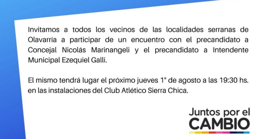 Juntos por el Cambio anuncia acto en Sierra Chica
