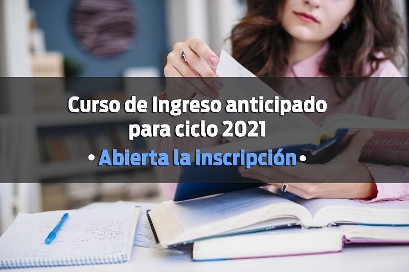 Curso de Ingreso anticipado para ciclo 2021 en la Facultad de Derecho