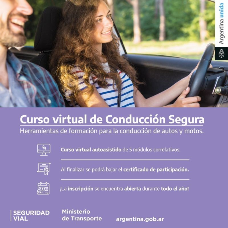 La  Agencia  Nacional de  seguridad  Vial  brindara curso  virtual  de  conducción  segura