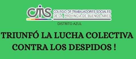 El Colegio confirma la reincorporación de la Trabajadora Social a la Municipalidad