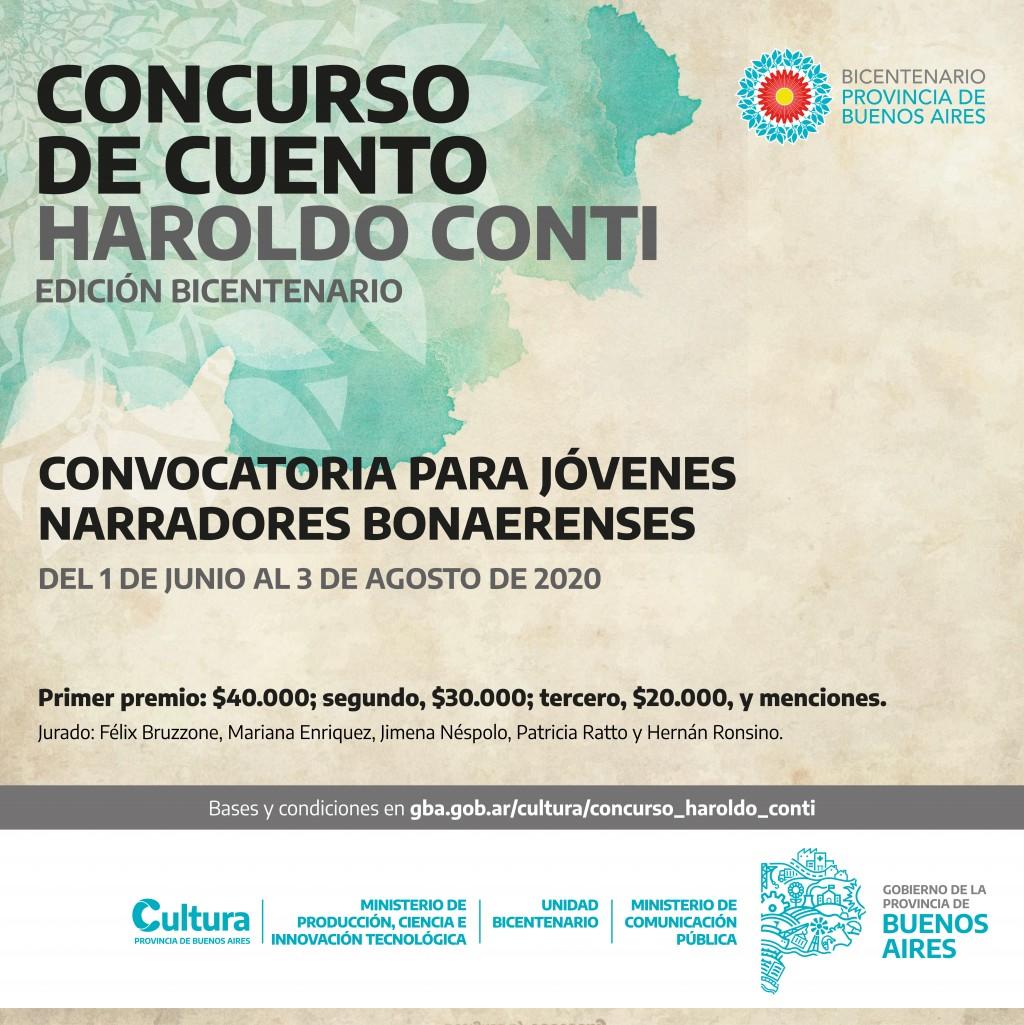 Últimos días para participar del Concurso de Cuento Haroldo Conti - Edición Bicentenario