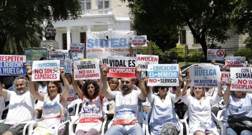 Con carta de olavarriense, SUTEBA destaca que quedaron sin efecto los sumarios contra docentes por hacer paro