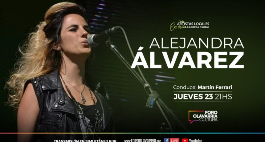 """Alejandra Alvarez canta en el ciclo   """"Artistas locales en vivo y a la gorra digital"""""""