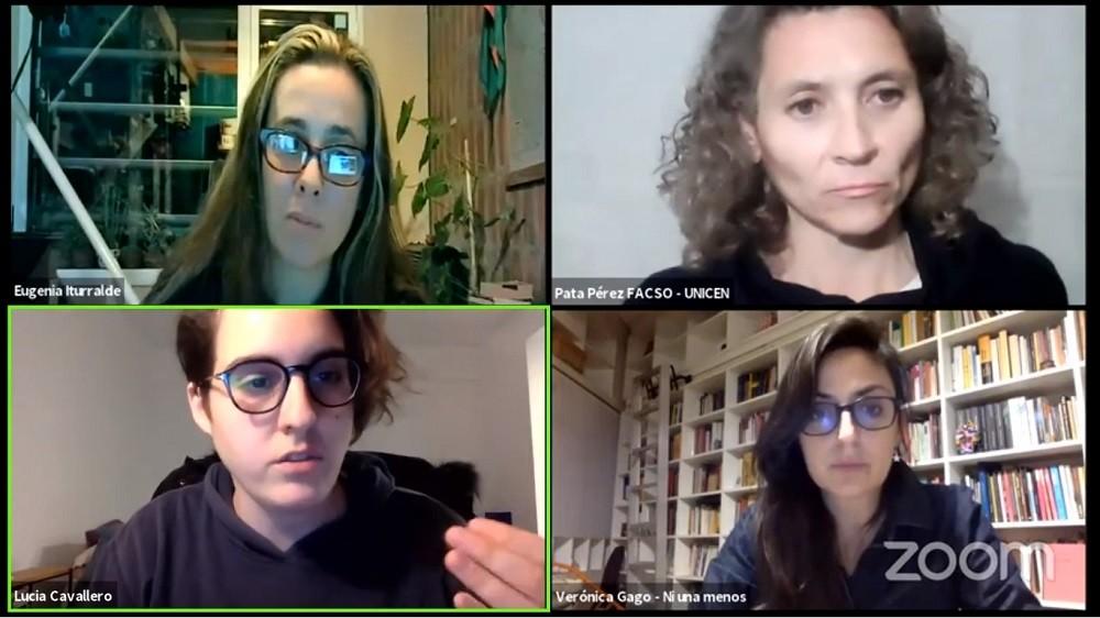 Se concretó el conversatorio 'Deuda, violencia y feminismos'