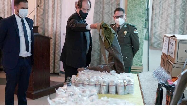 Bolivia dio detalles sobre el armamento enviado por el Gobierno de Macri