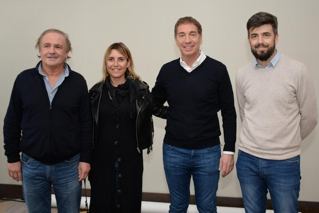 Cenizo, González y Coscia con Diego Santilli