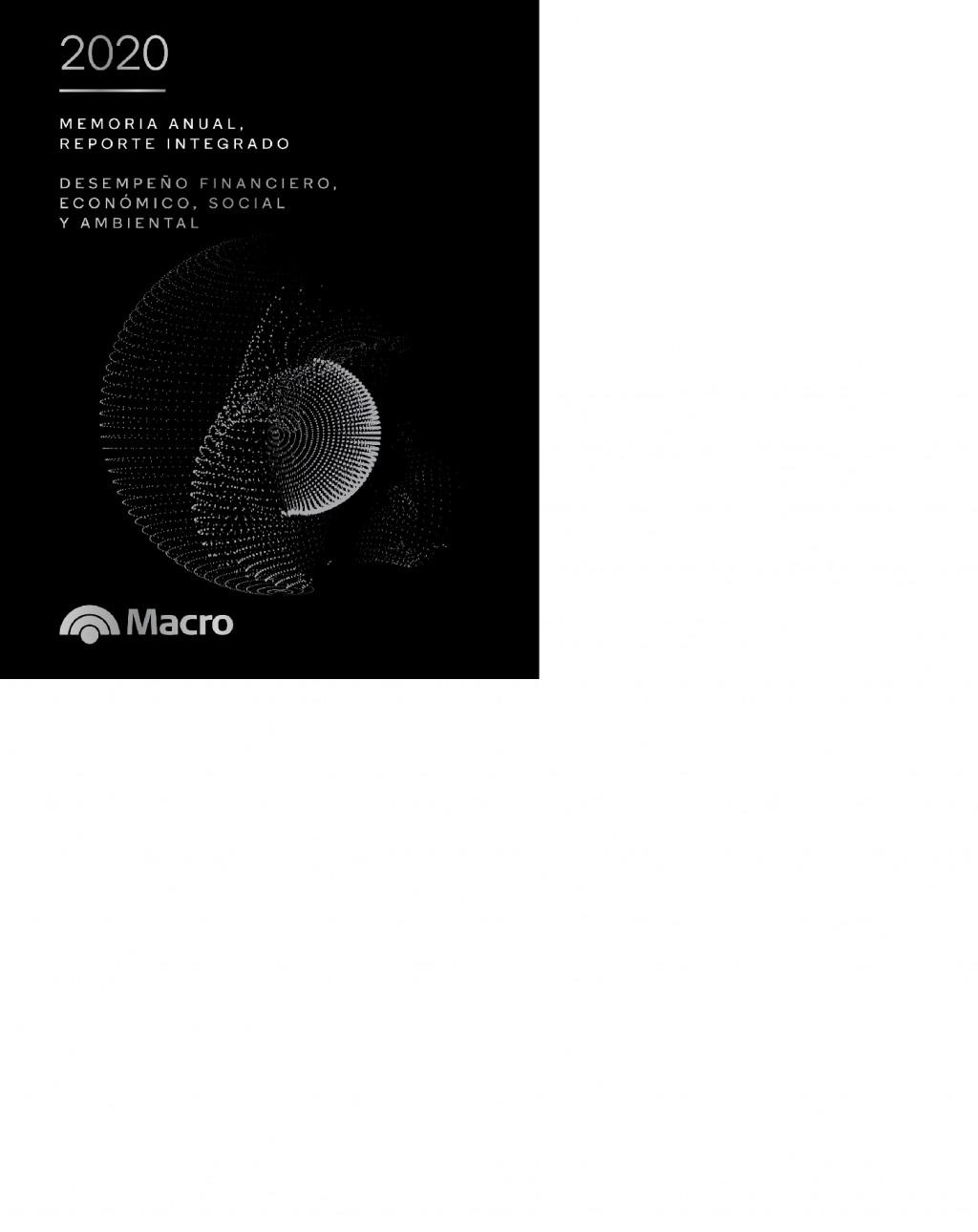 Banco Macro presenta su Memoria Anual y Reporte Integrado 2020