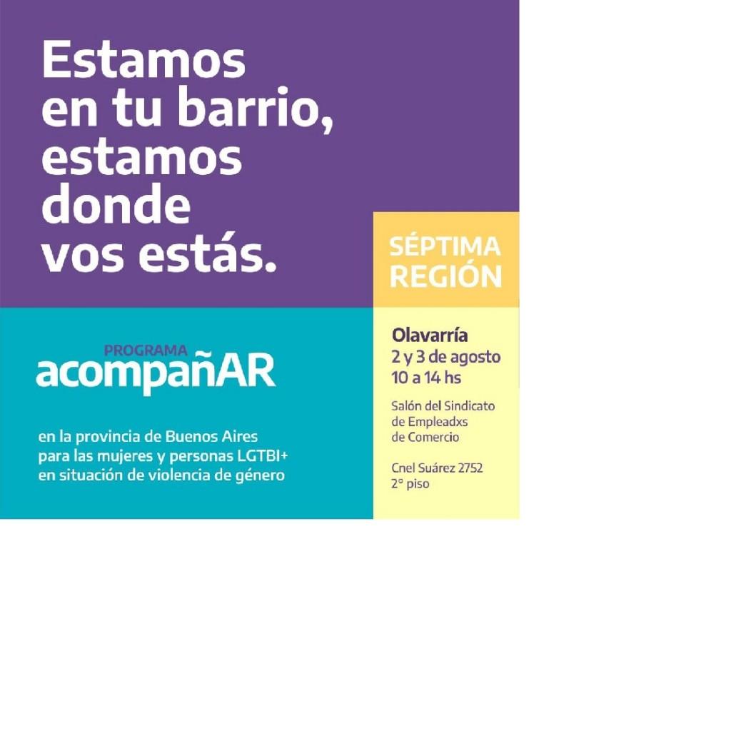 'Programa Acompañar' contra la violencia de género: lunes y martes realizará la inscripción en Olavarría