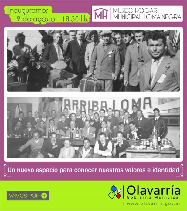 Desde este sábado, Loma Negra, tendrá su Museo