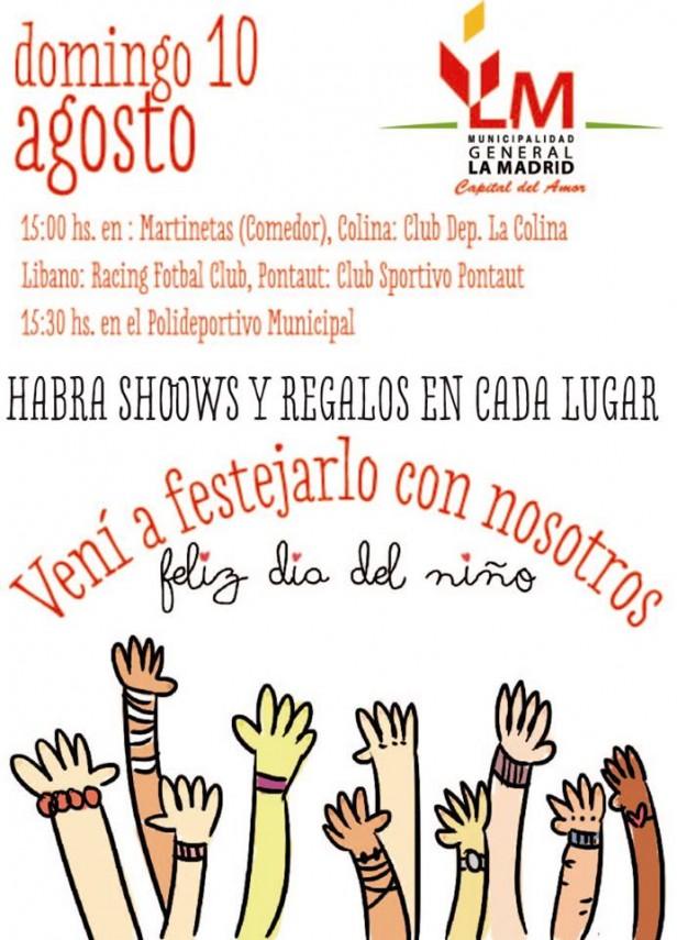 La Madrid: Día del Niño en localidades