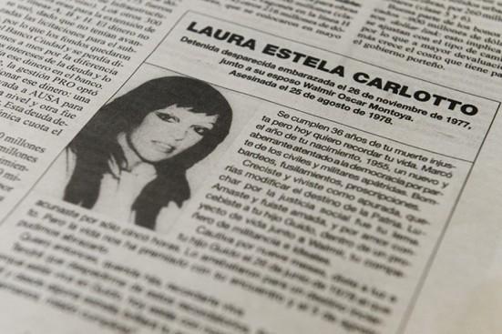 Carlotto publicó el último recordatorio de Laura: Estás viva en Guido