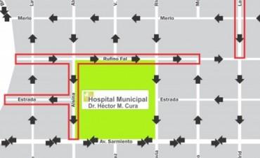 Cambio de circulación en calles de la zona del Hospital